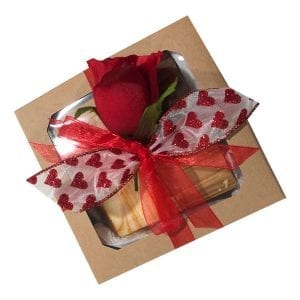 Valentine's Day Fudge Collection-1/4 pound each of our four top flavors arranged in a beautiful gift box.