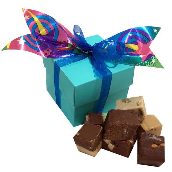 Fudge Sampler Gift Box-Aqua
