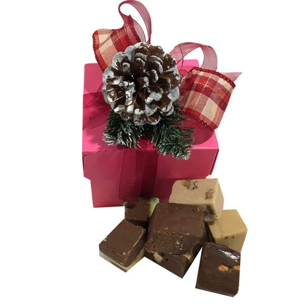 Holiday Fudge Sampler Gift Box-Pink