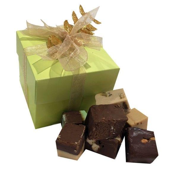 Holiday Fudge Sampler Gift Box-Sage