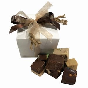 Fudge Sampler Gift Box -White