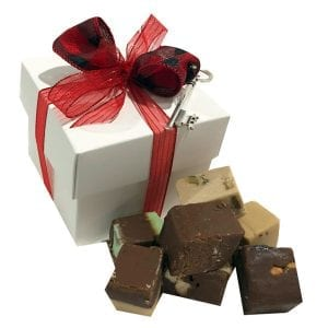 Christmas Fudge Sampler Gift Box -White